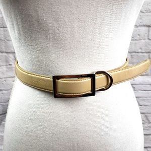 "The Limited Adjustable Ivory Leather 1""width belt"